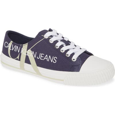 Calvin Klein Jeans Demianne Logo Sneaker, Blue
