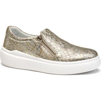 Trask Luna Metallic Zip Sneaker- Metallic