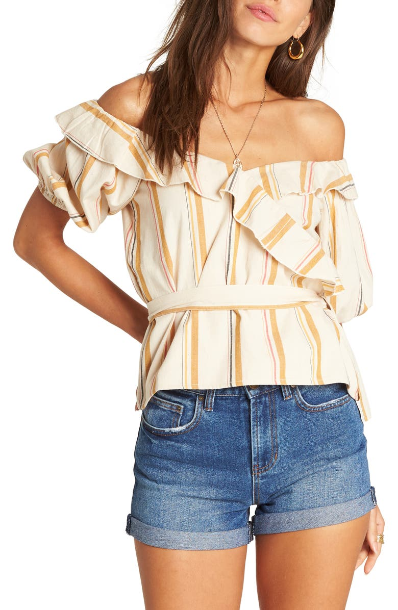 Babes Free babes all day off the shoulder top