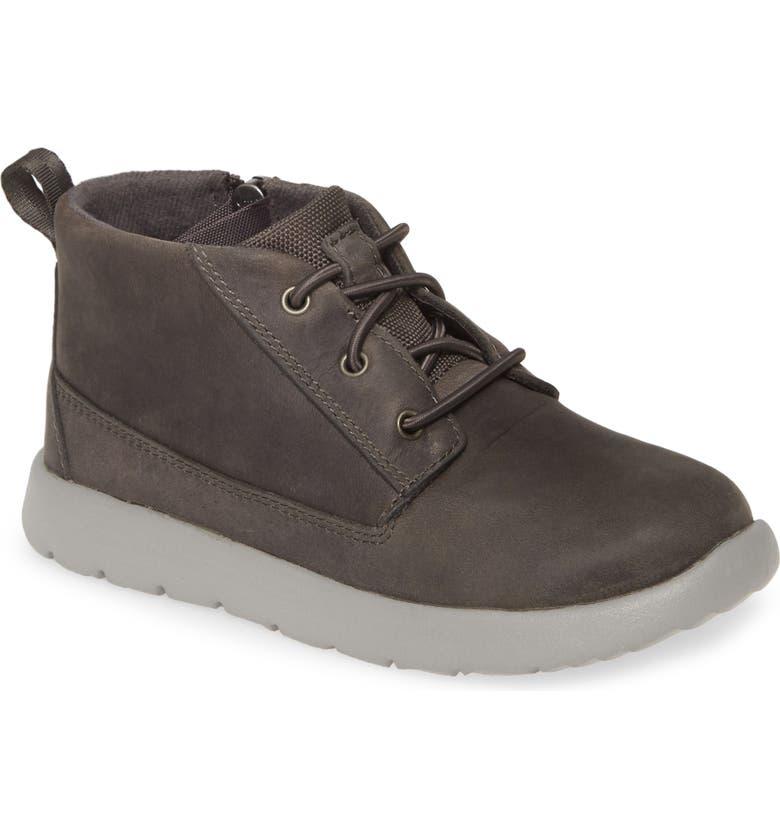 UGG<SUP>®</SUP> Canoe Waterproof Chukka Sneaker, Main, color, CHARCOAL