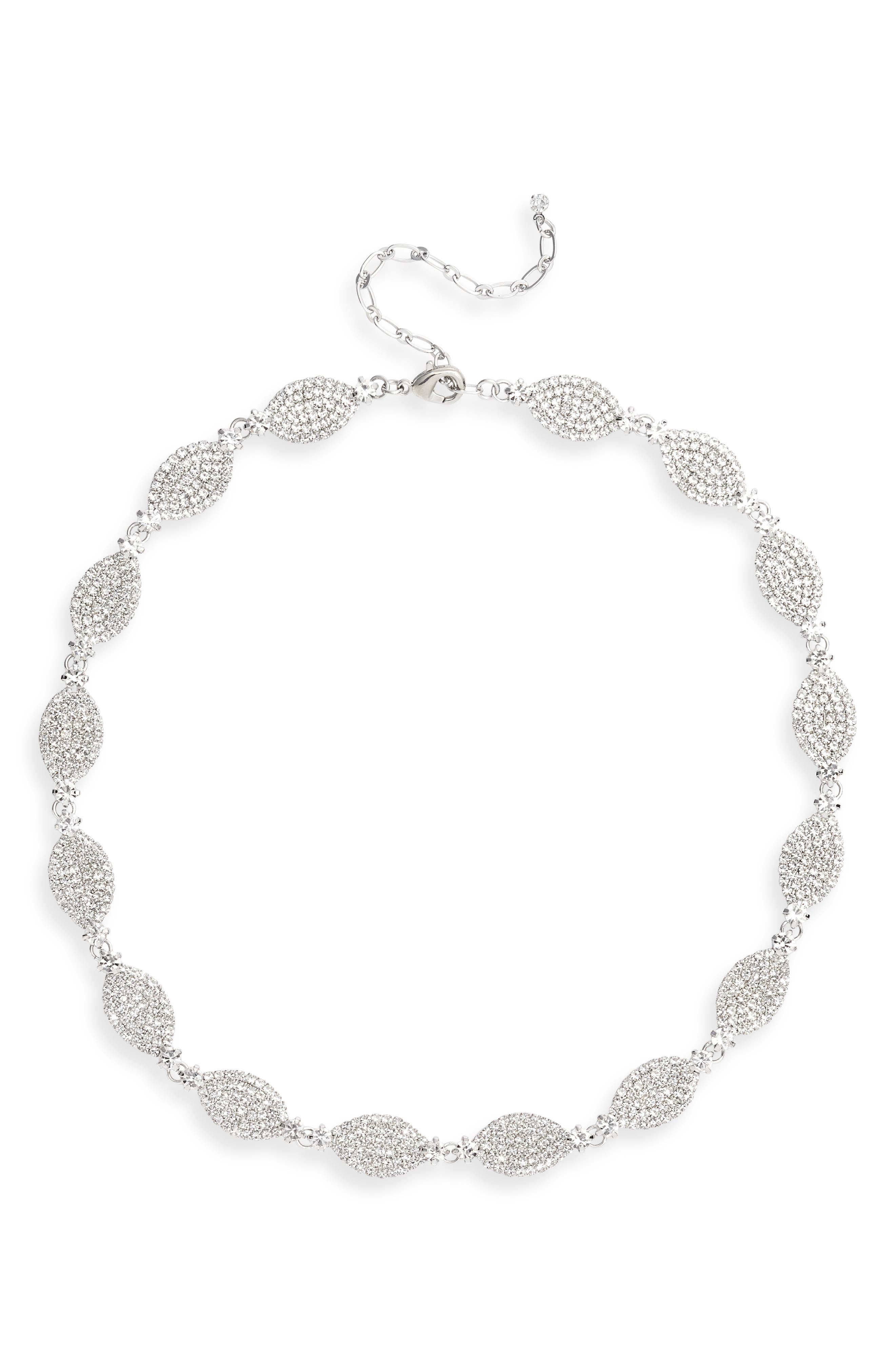 Navette Pave Necklace
