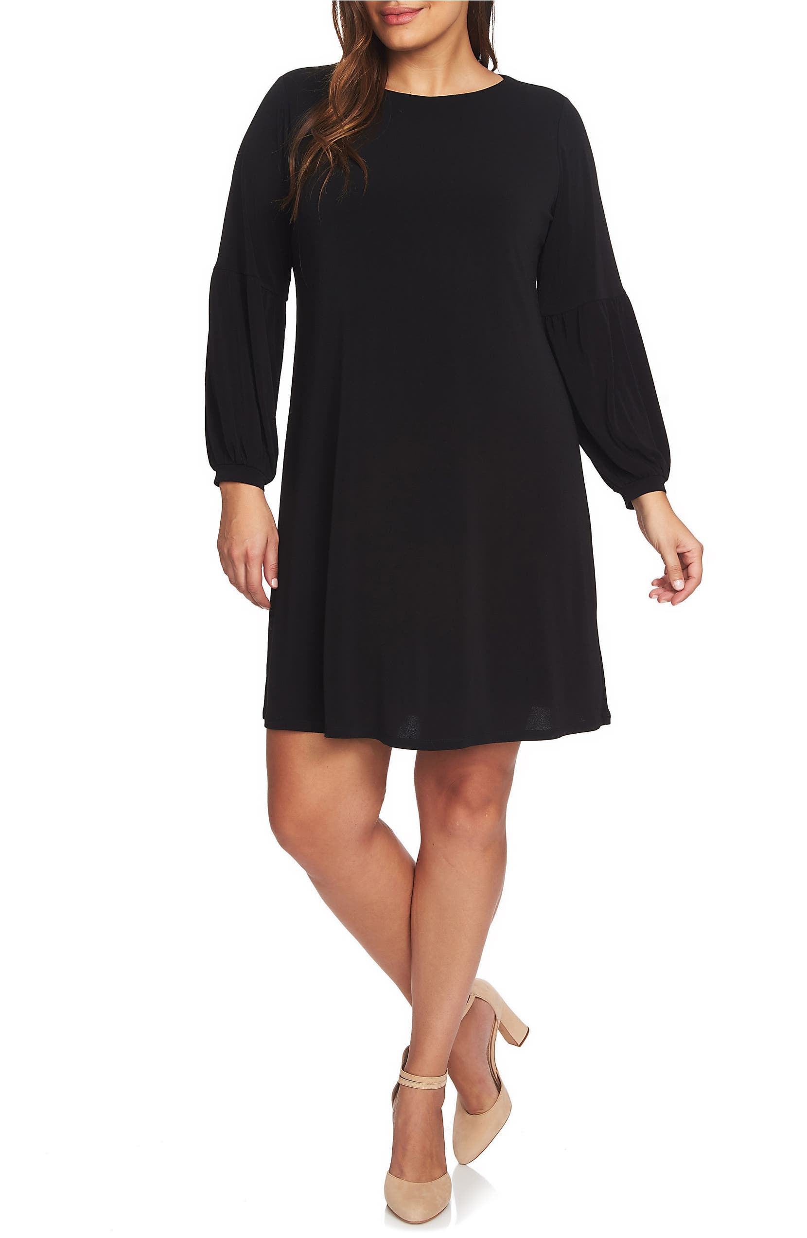 CeCe Puff Sleeve Knit Dress (Plus Size) | Nordstrom
