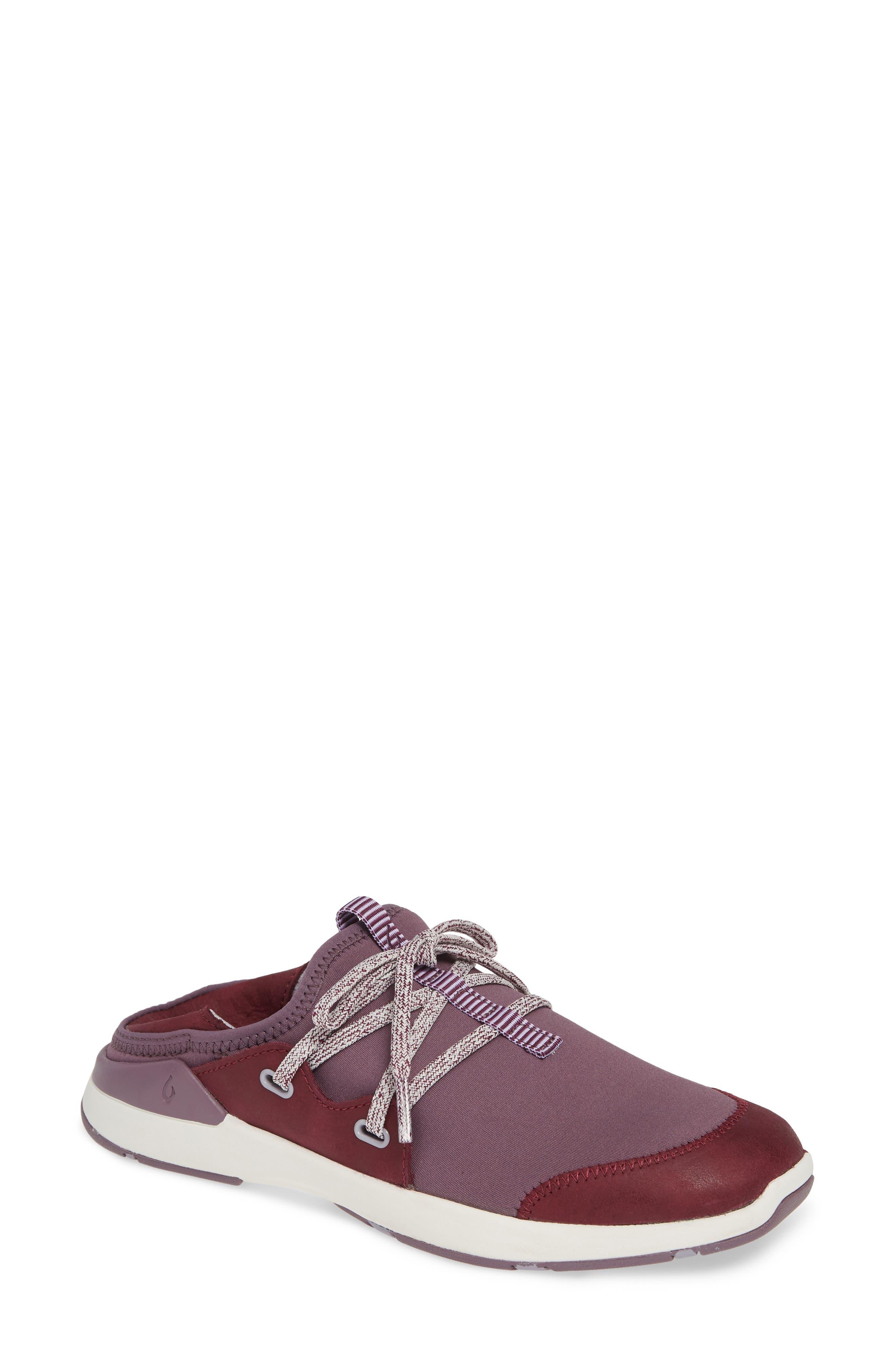 Olukai Miki Li Convertible Sneaker- Burgundy