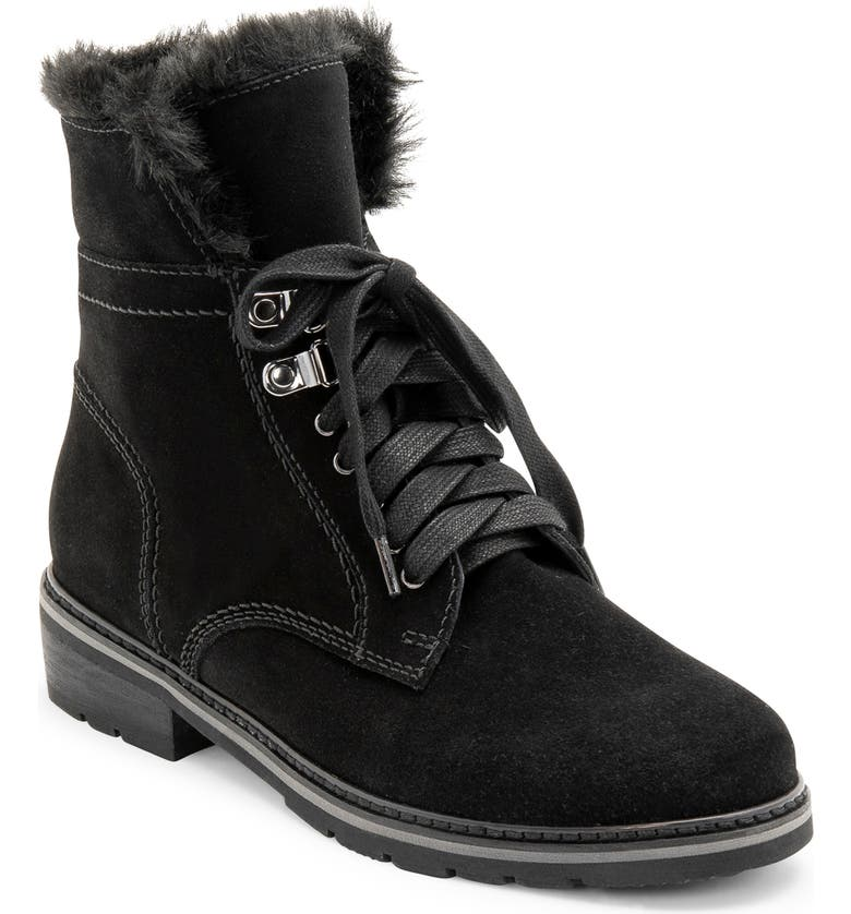 BLONDO Vedette Waterproof Lace-Up Boot, Main, color, BLACK SUEDE