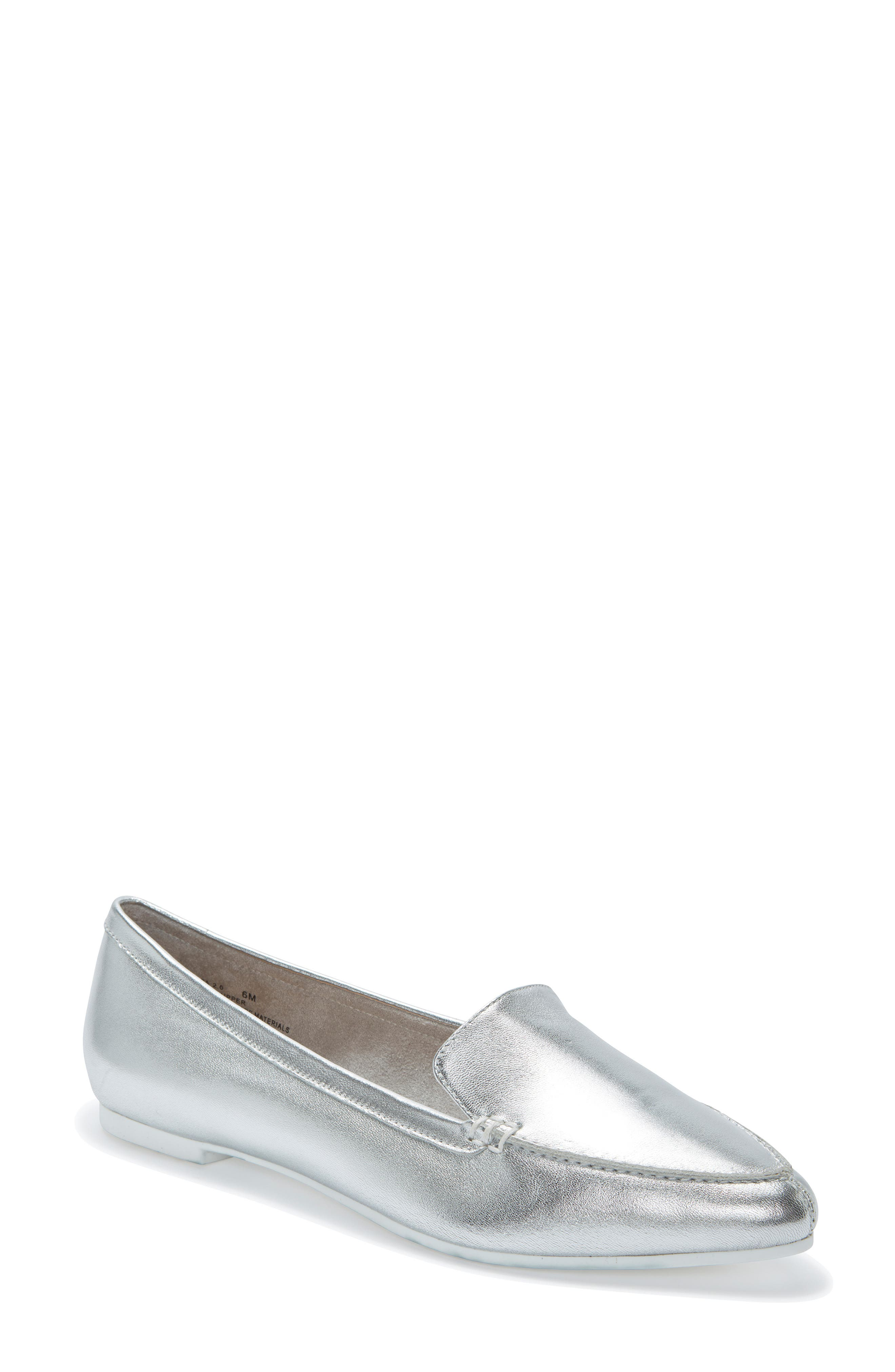Me Too Audra Loafer Flat- Metallic