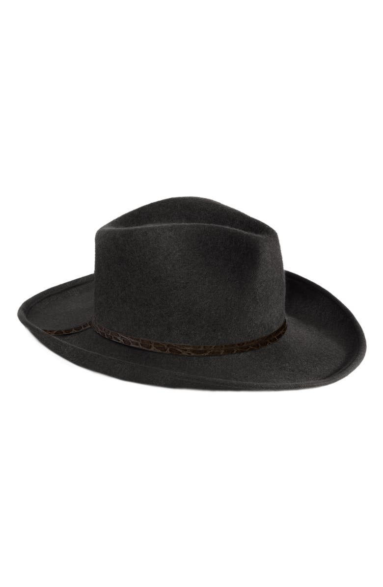 ERIC JAVITS Wool Western Hat, Main, color, BLACK