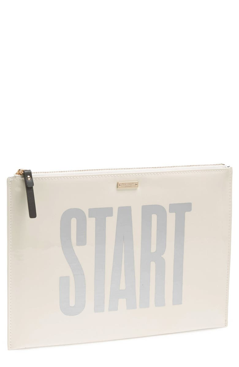 KATE SPADE NEW YORK 'large bella - photo finish' zipper pouch, Main, color, 900