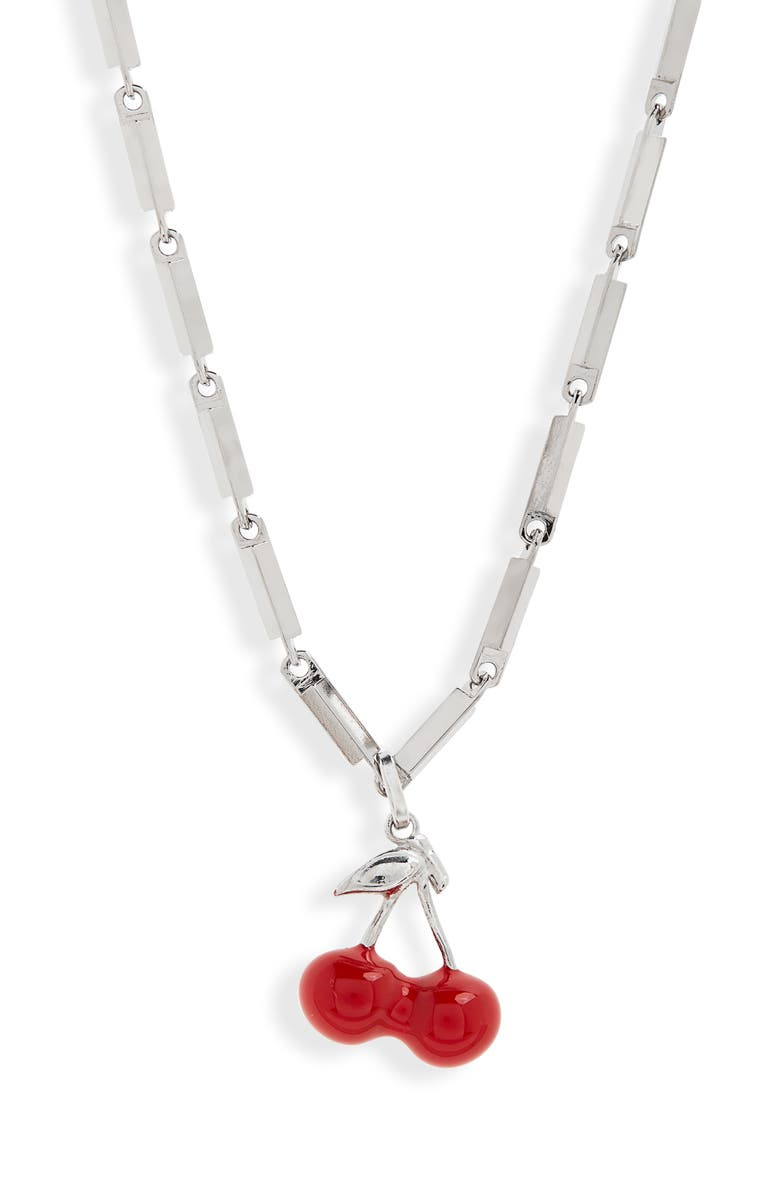 Saint Laurent Cherry Pendant Necklace