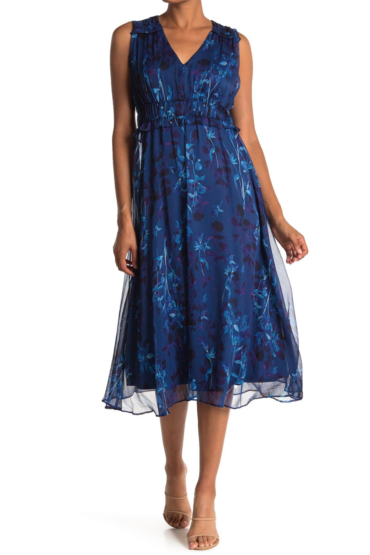 Image of Taylor Printed Chiffon Dress