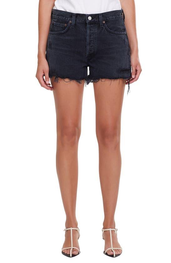 Agolde Shorts PARKER DISTRESSED DENIM SHORTS