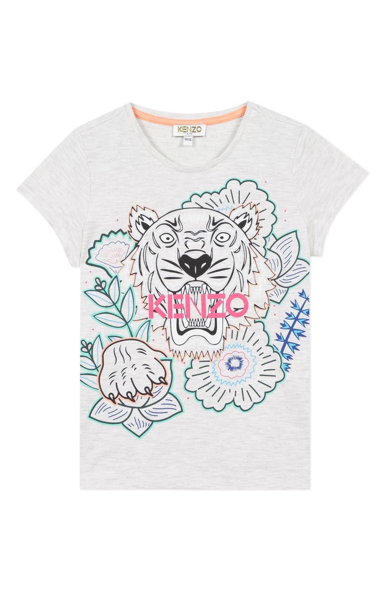 KENZO Tiger Tee, Main, color, MARL GREY