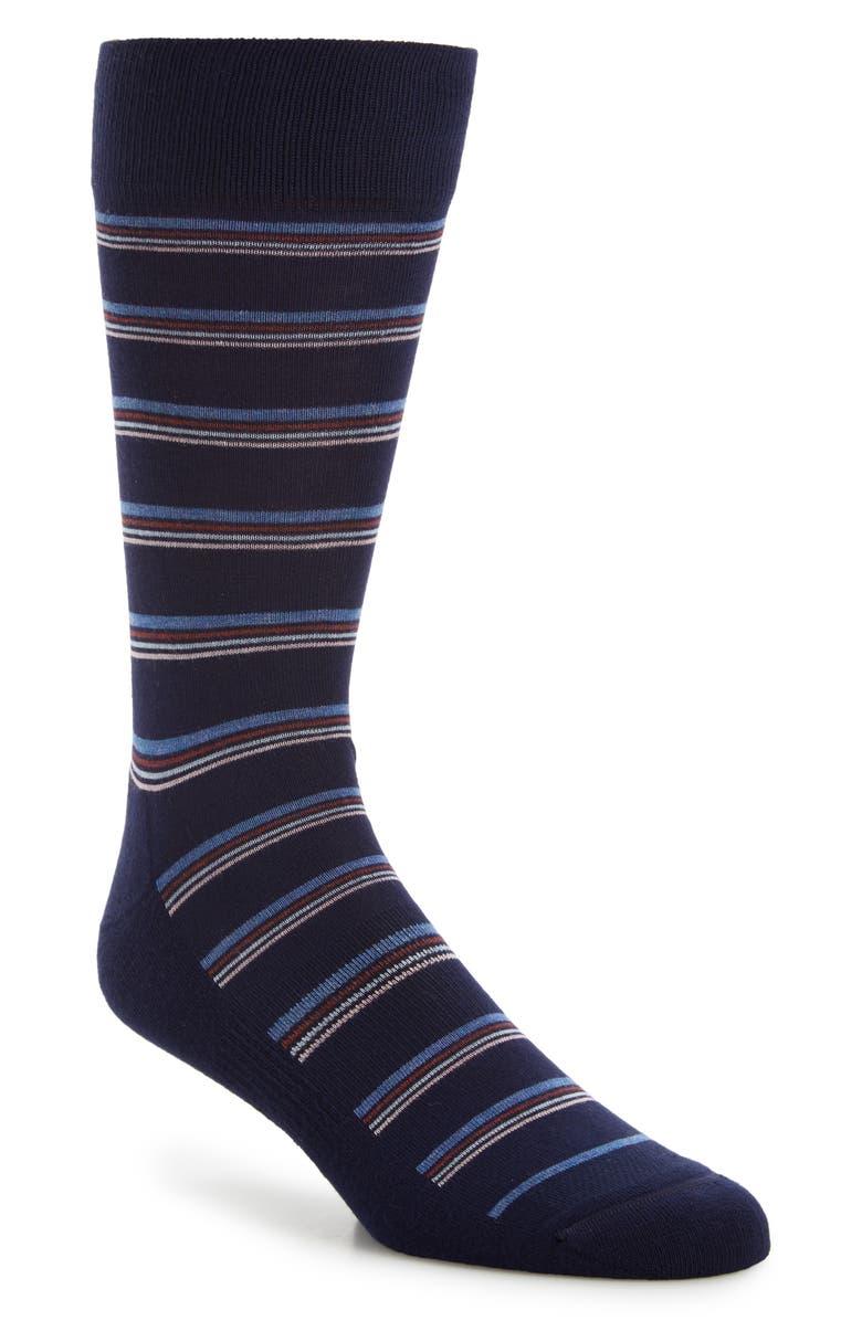 NORDSTROM MEN'S SHOP Quad Stripe Socks, Main, color, 410