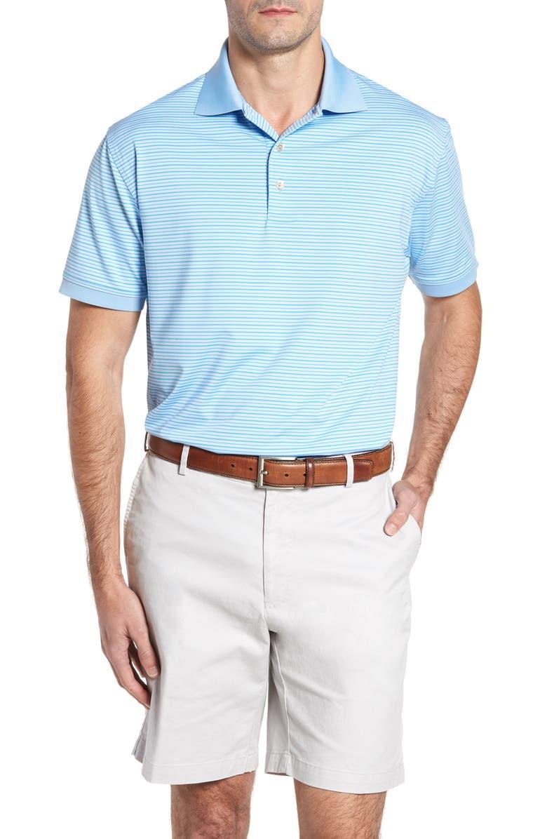 PETER MILLAR Creto Stripe Jersey Polo, Main, color, 423