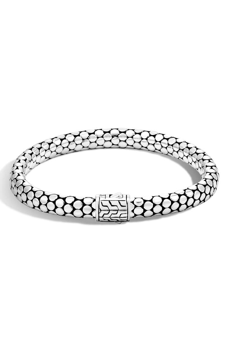 JOHN HARDY 'Dot' Small Chain Bracelet, Main, color, SILVER