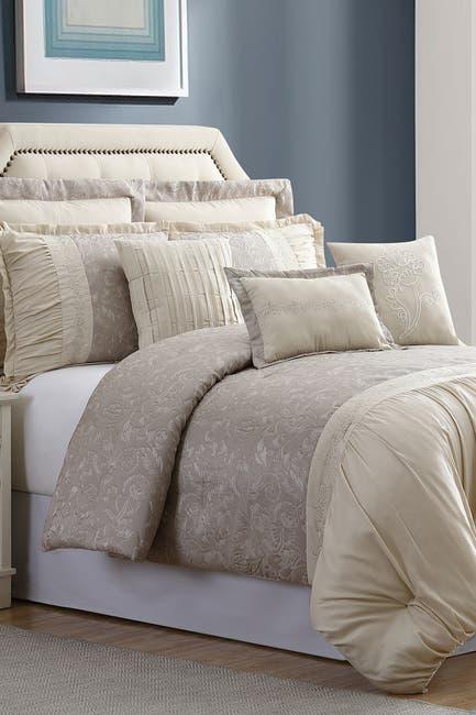 Image of Modern Threads King Jardin Jacquard Comforter Set - Tan