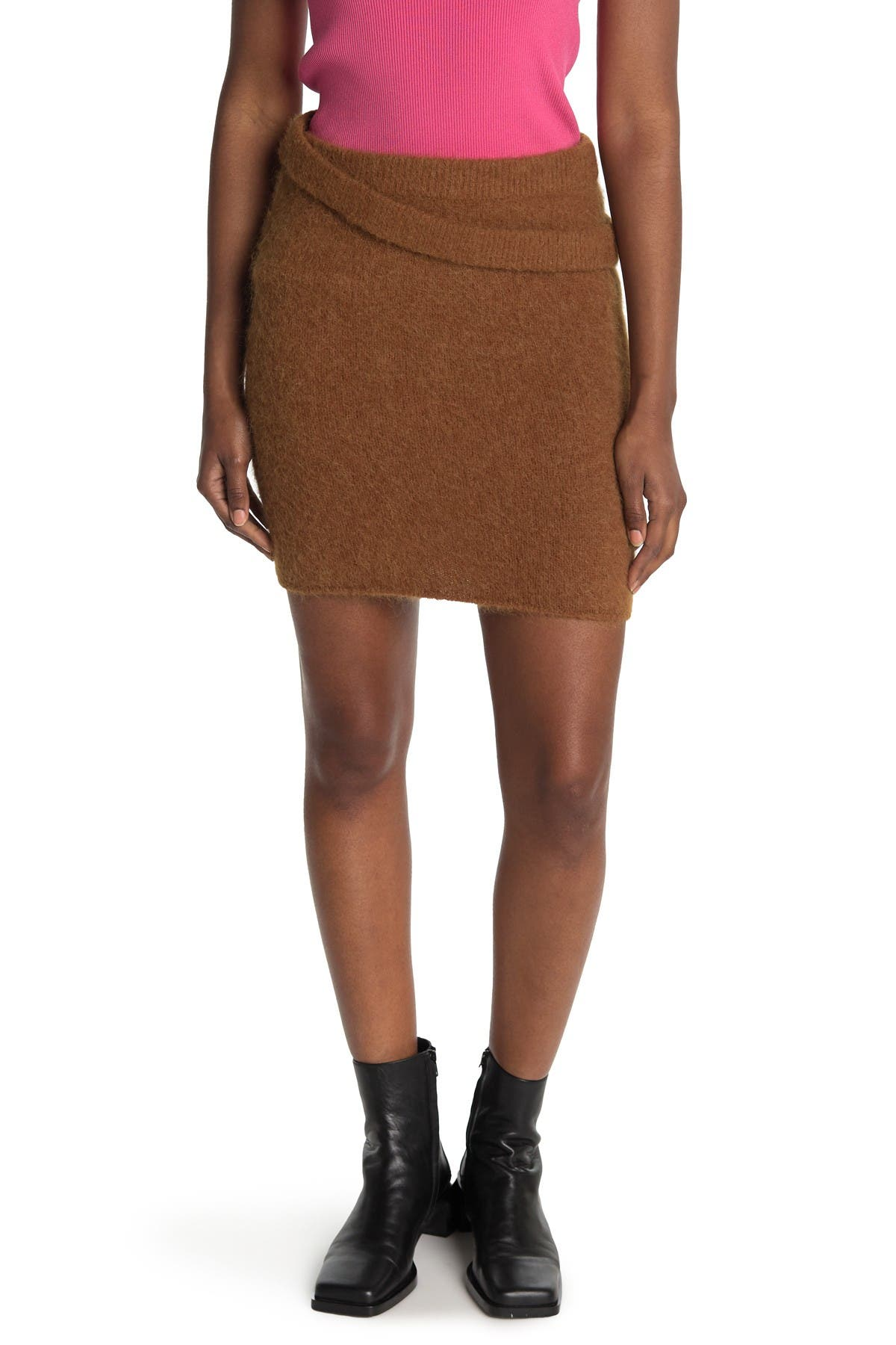 Image of Helmut Lang Double Knit Skirt