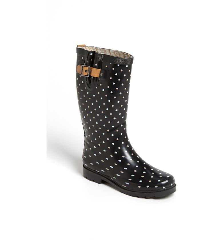 CHOOKA 'Classical Dot' Rain Boot, Main, color, 001