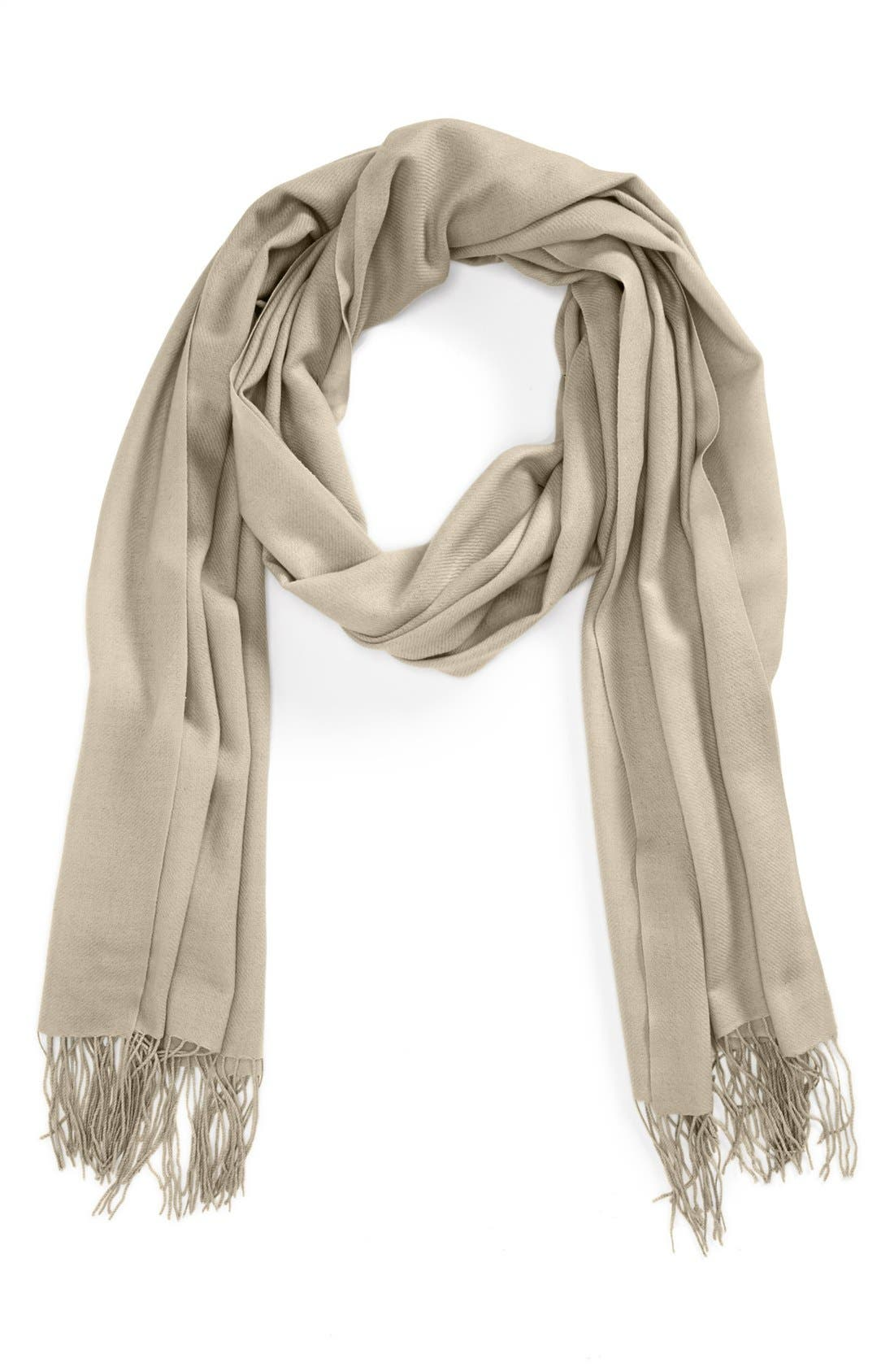 ,                             Tissue Weight Wool & Cashmere Wrap,                             Main thumbnail 44, color,                             280