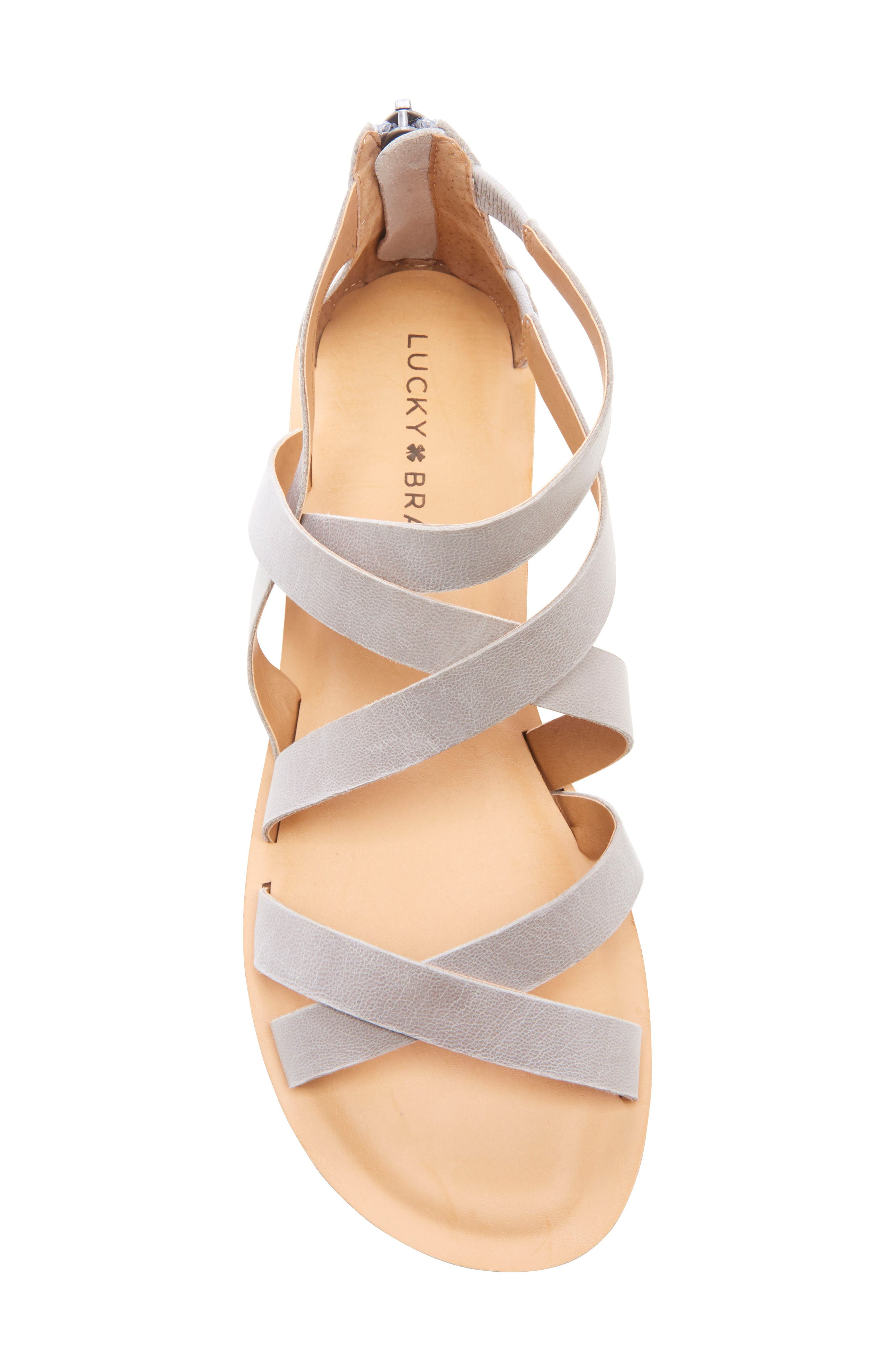 ,                             Helenka Strappy Wedge Sandal,                             Alternate thumbnail 5, color,                             CHINCHILLA LEATHER