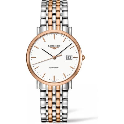 Longines Elegant Automatic Bracelet Watch, 37Mm