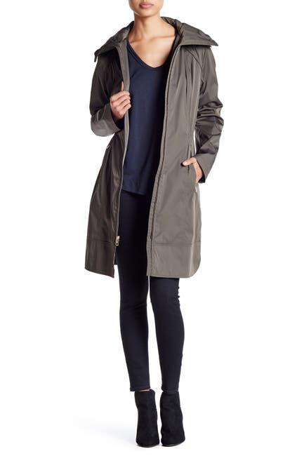 Image of Cole Haan Hooded Longline Raincoat