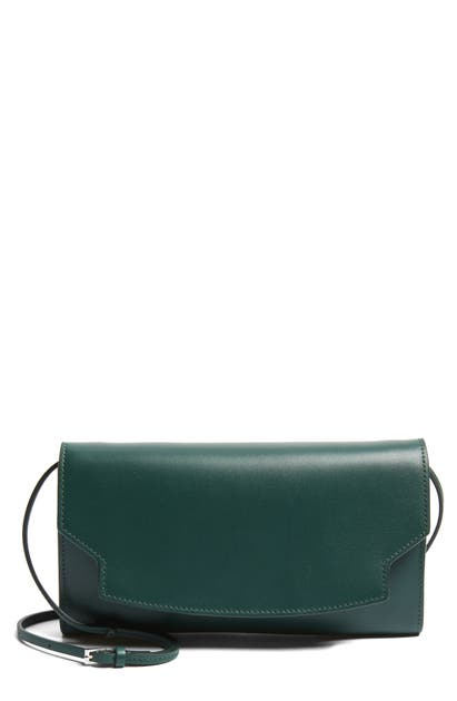 The Row Lady Leather Wallet In Deep Jungle