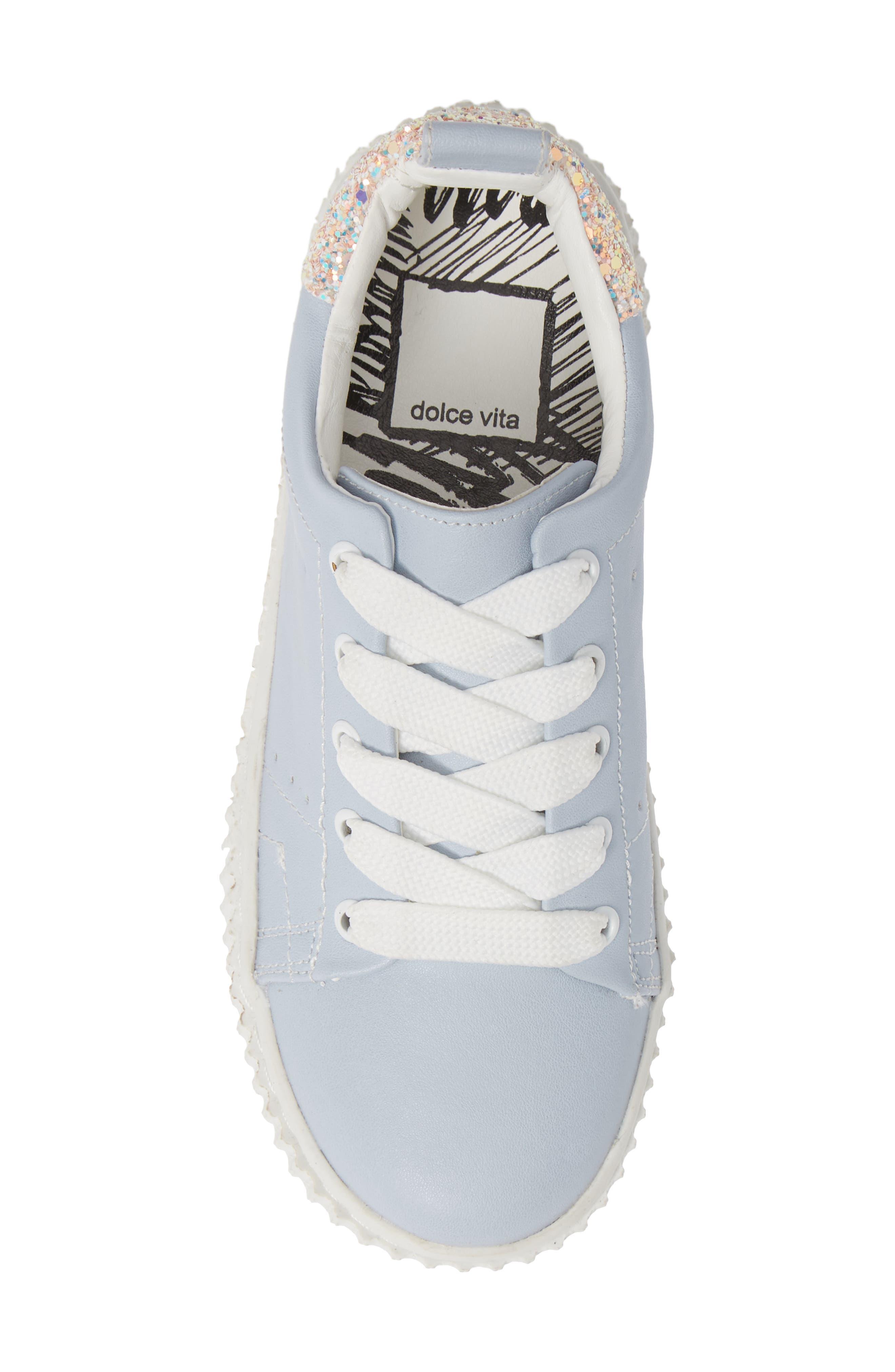 ,                             Wren Glitter Heel Sneaker,                             Alternate thumbnail 5, color,                             450