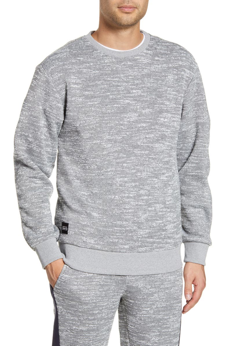 NATIVE YOUTH Spar Crewneck Slub Fleece Sweatshirt, Main, color, 020