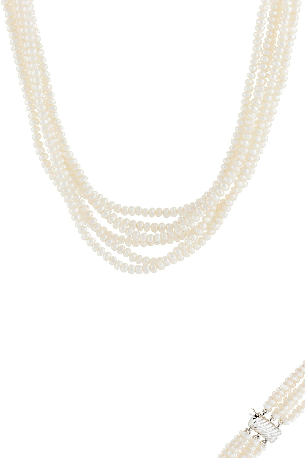 Image of Splendid Pearls 4-5mm Cultured Freshwater Pearl Layered Necklace