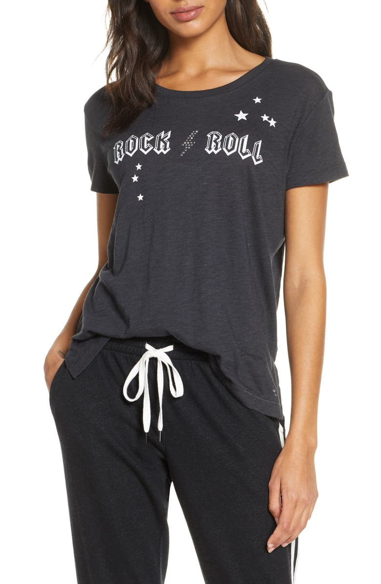 PJ SALVAGE Rock 'n' Roll Graphic Tee, Main, color, 020