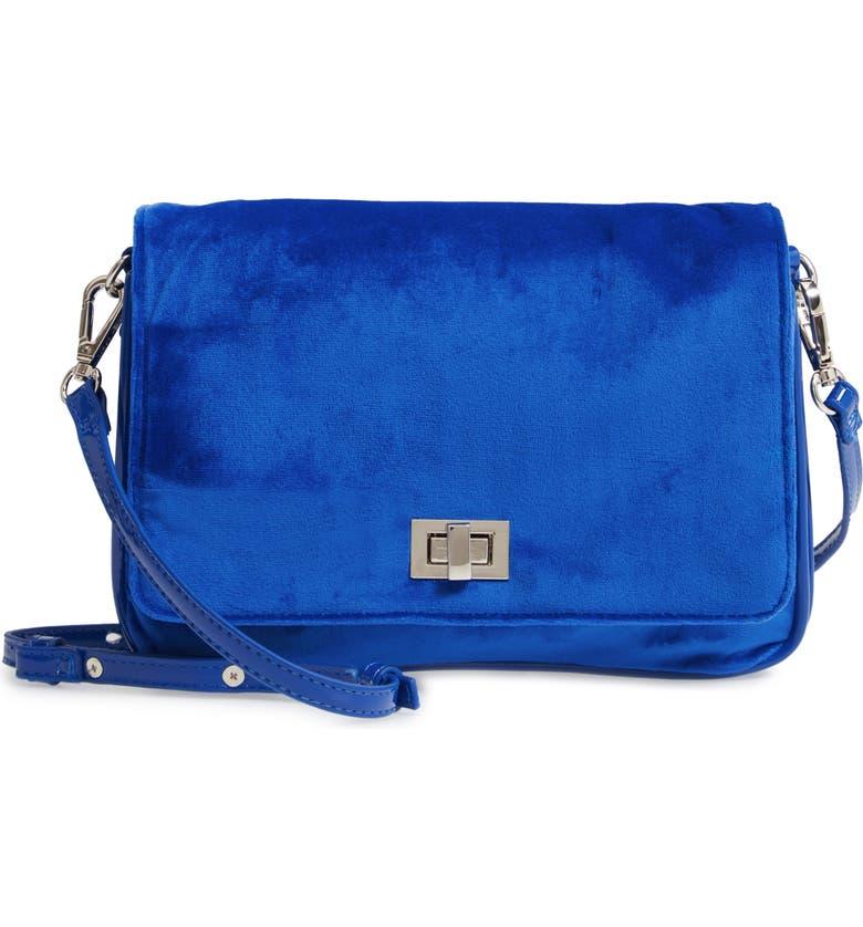 STEVE MADDEN Velvet Crossbody Bag, Main, color, 400