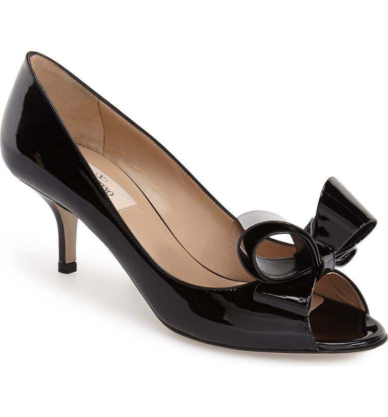 VALENTINO GARAVANI Couture Bow Pump, Main, color, 001