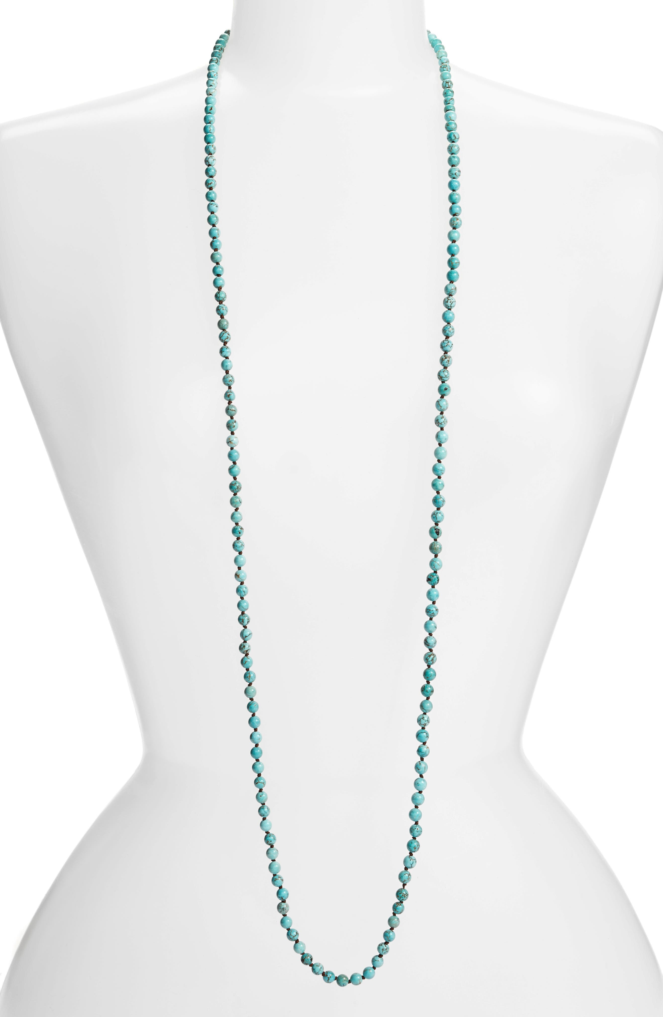 ,                             Love's Affect Knotted Semiprecious Stone Necklace,                             Main thumbnail 12, color,                             440