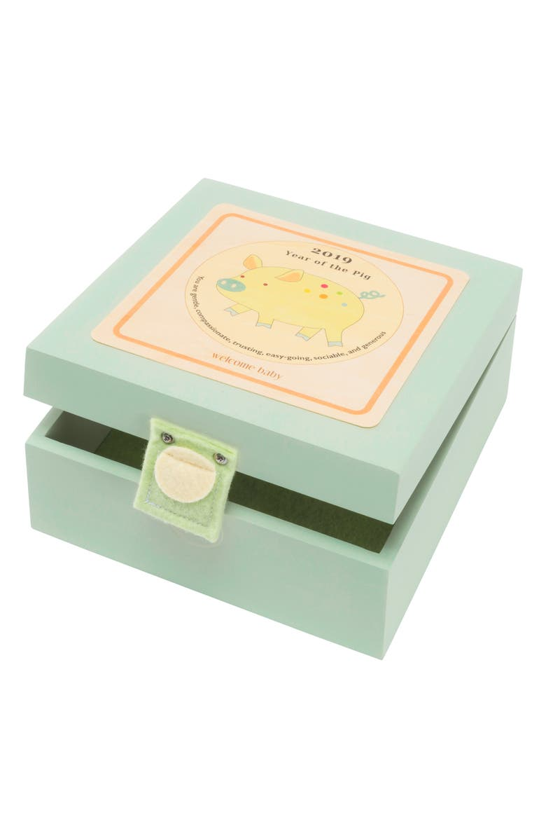 TREE BY KERRI LEE Birth Year Box - 2019 Year of The Pig, Main, color, GREEN