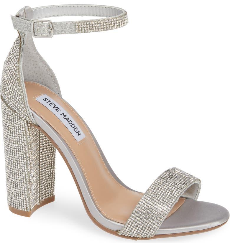 STEVE MADDEN Carrson Ankle Strap Sandal, Main, color, CRYSTAL