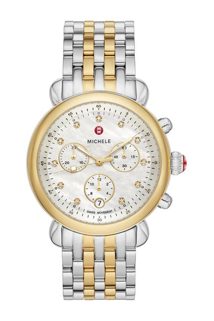 Image of Michele Women's CSX Diamond Embellished Bracelet Watch, 38mm - 0.03 ctw