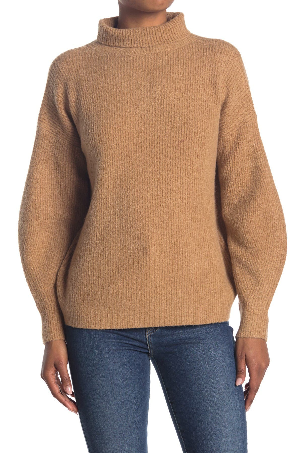 Image of French Connection Flossy Ribbed Turtleneck Sweater