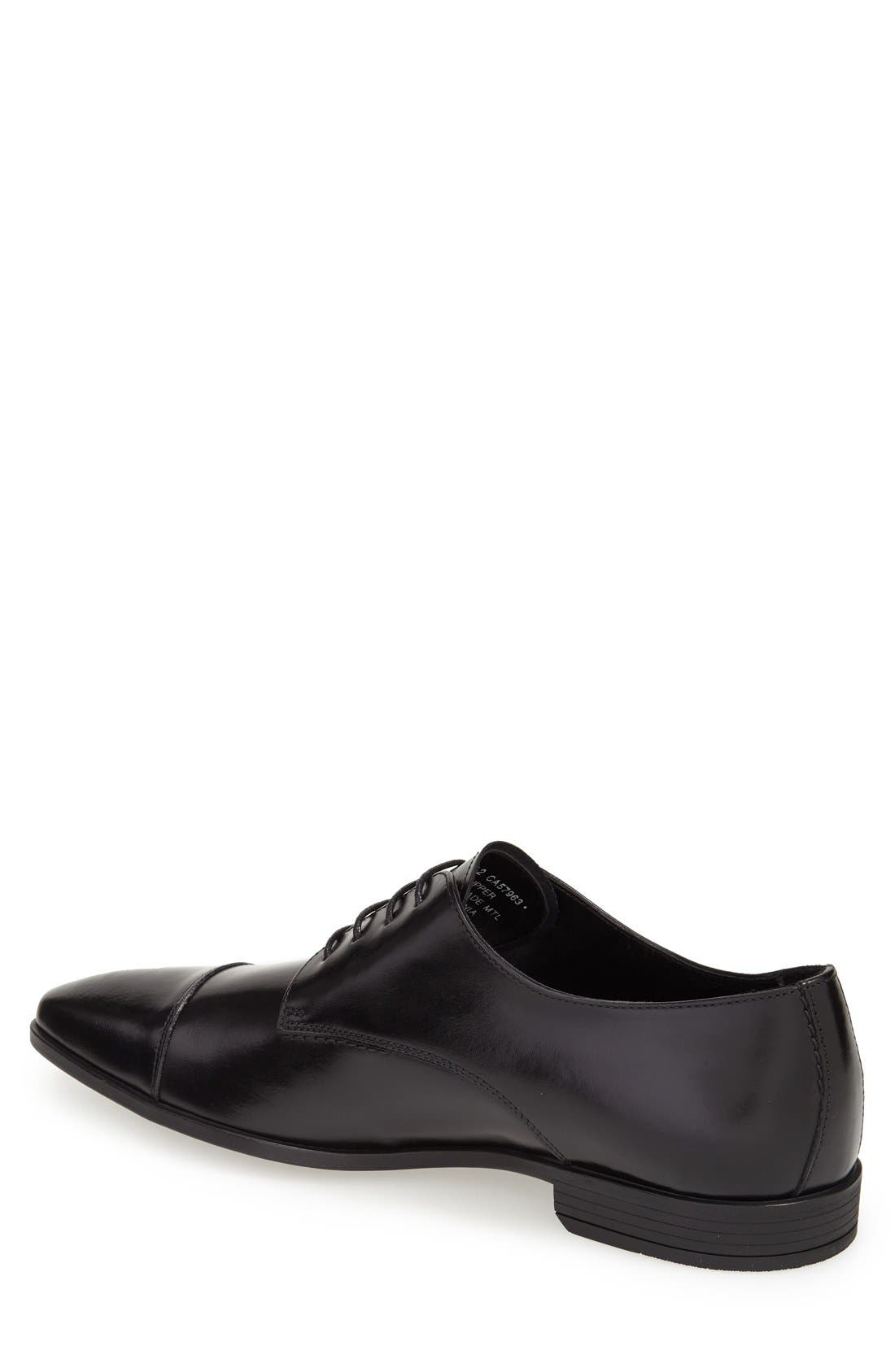 ,                             'Stark' Cap Toe Derby,                             Alternate thumbnail 2, color,                             BLACK LEATHER