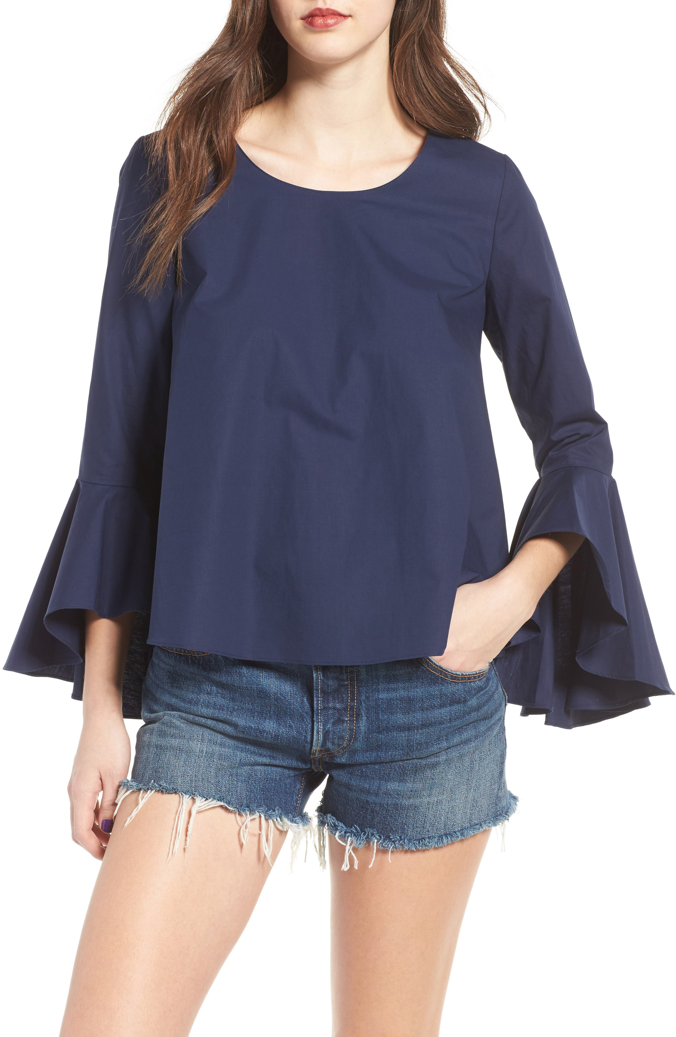 ,                             Bell Sleeve Top,                             Main thumbnail 6, color,                             410