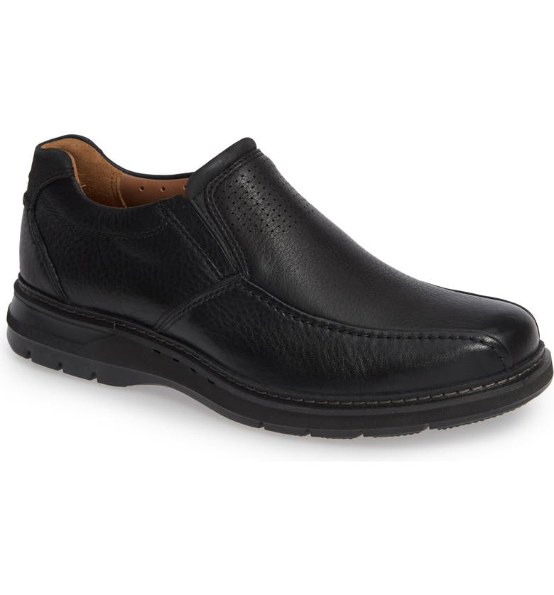 CLARKS<SUP>®</SUP> Un Ramble Step Venetian Loafer, Main, color, BLACK LEATHER