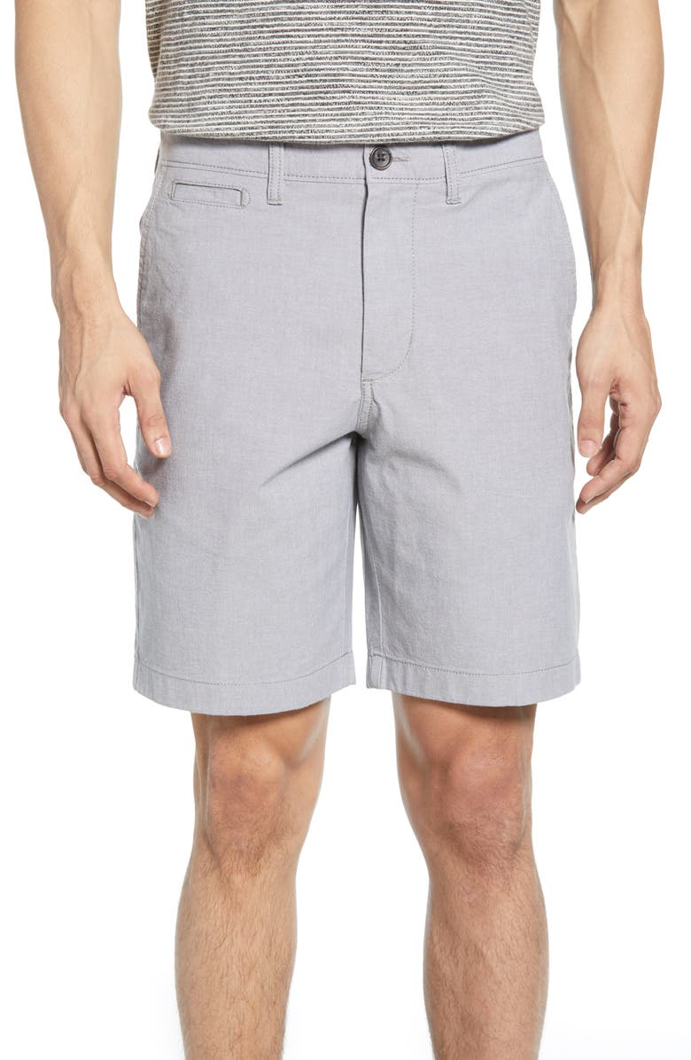 1901 Ballard Slim Fit Stretch Chambray Shorts, Main, color, 021