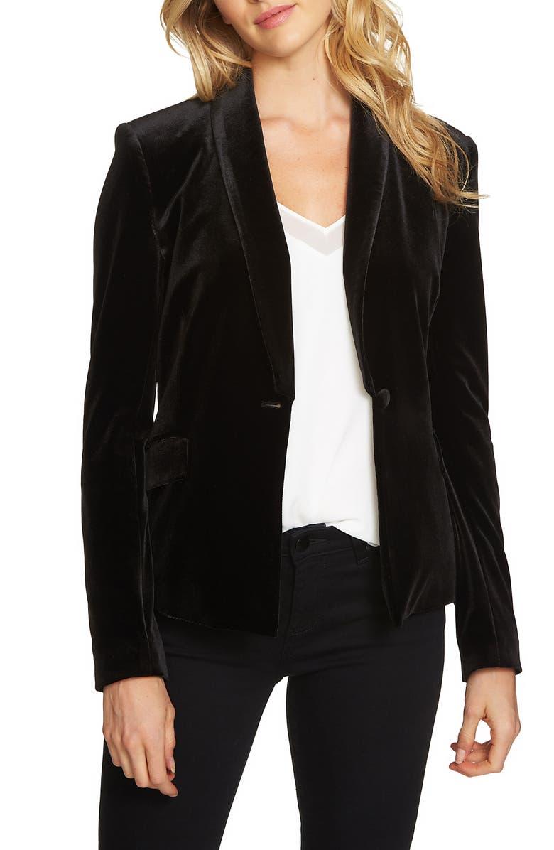 1.STATE Velvet Tuxedo Blazer, Main, color, 010