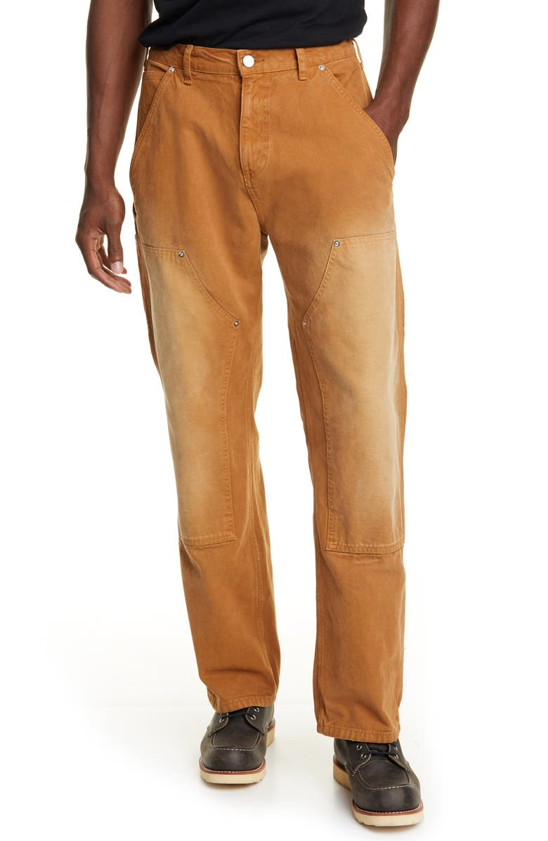 BILLY LOS ANGELES Panel Straight Leg Pants, Main, color, TOBACCO