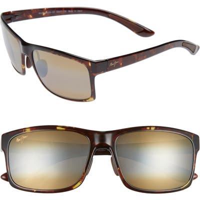 Maui Jim Pokowai Arch 5m Polarized Sunglasses - Olive Tortoise/ Bronze