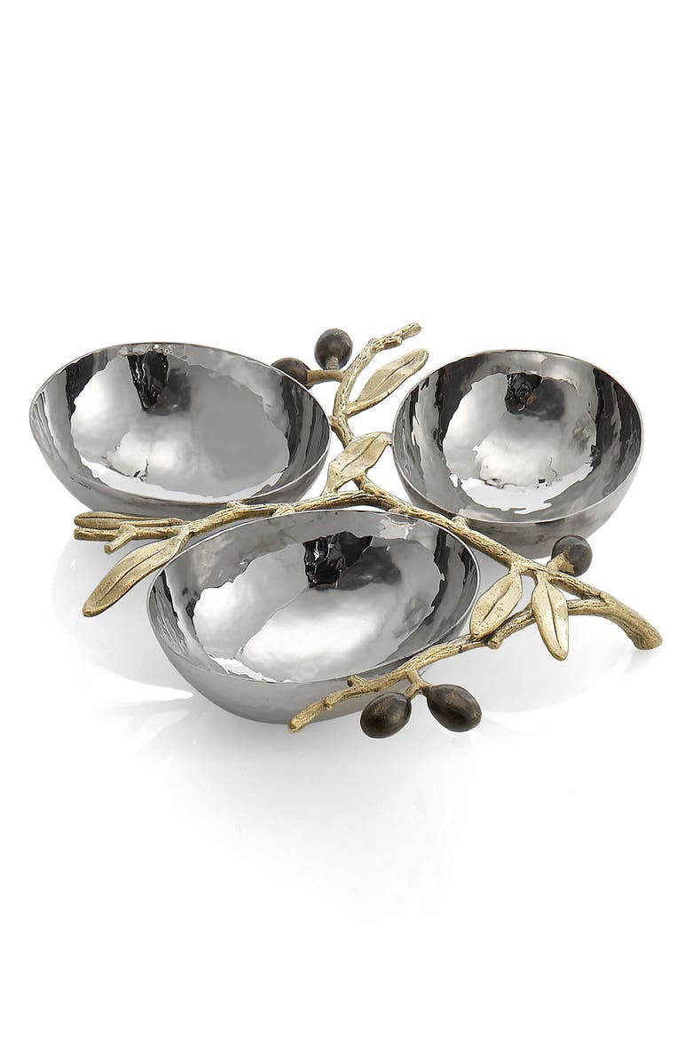 MICHAEL ARAM 'Olive Branch Gold' Triple Dish, Main, color, 960