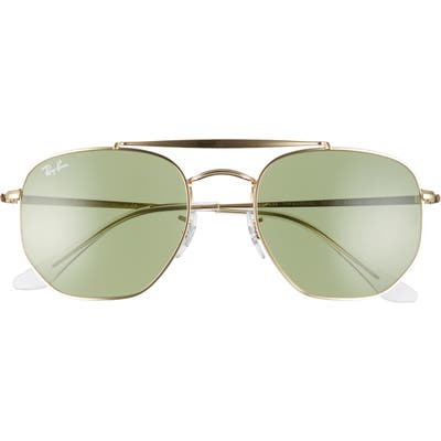 Ray-Ban Marshal 5m Aviator Sunglasses - Gold/ Solid Green