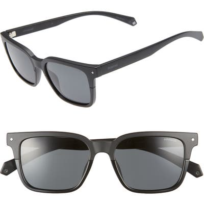 Polaroid 52Mm Polarized Sunglasses - Black