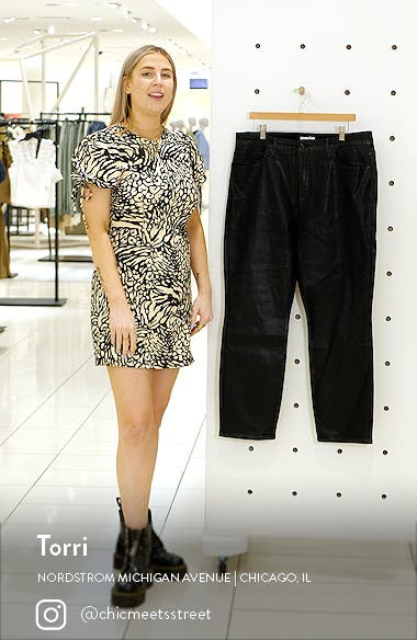 Good Classic Coated Ankle Straight Leg Jeans, sales video thumbnail