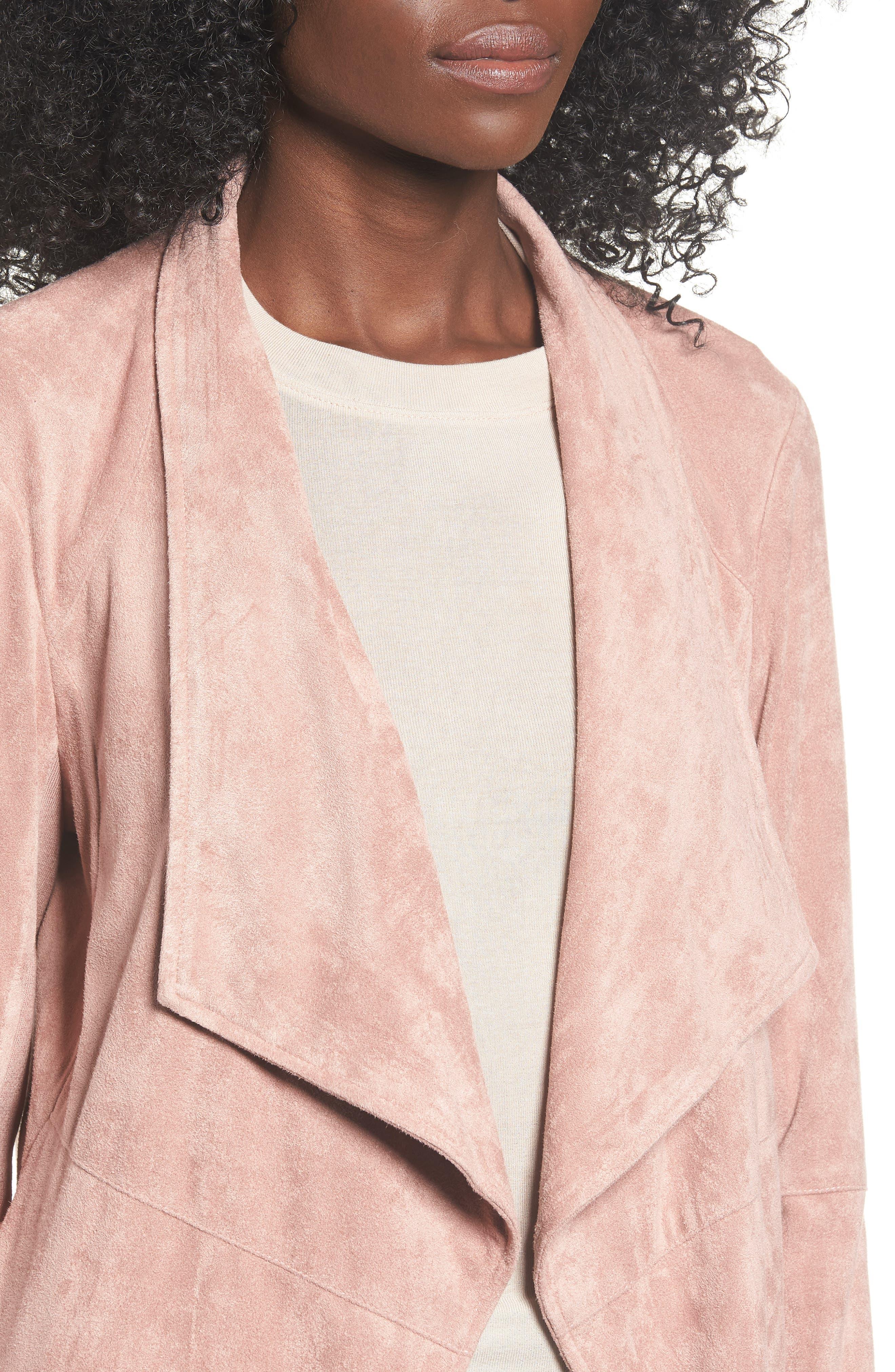 ,                             Nicholson Faux Suede Drape Front Jacket,                             Alternate thumbnail 55, color,                             651