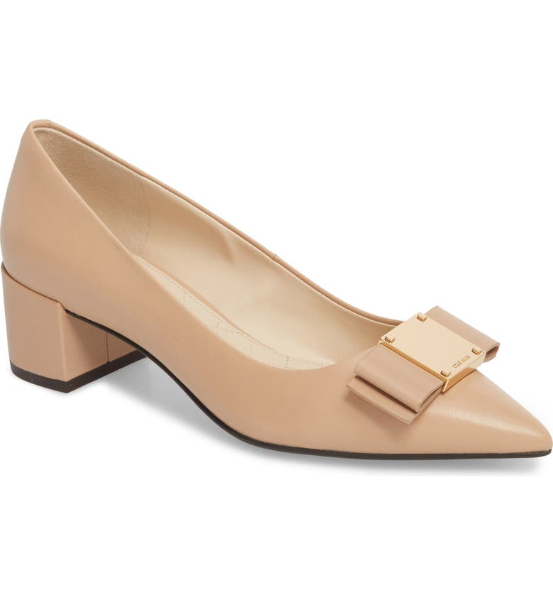 COLE HAAN Tali Modern Waterproof Bow Pump, Main, color, 250